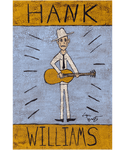 Hank Williams Folk Art Print