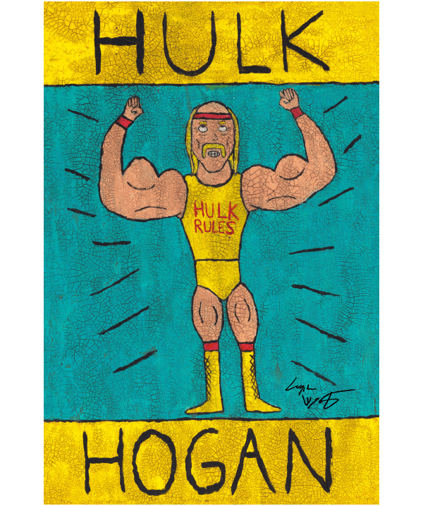 Hulk Hogan Folk Art Print