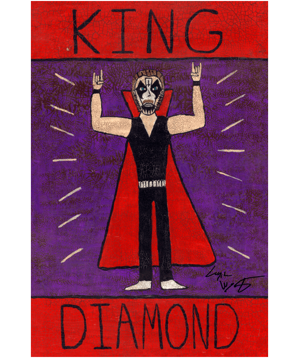 King Diamond Folk Art Print