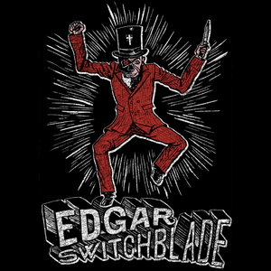 Edgar Switchblade Retro Superhero T-Shirt