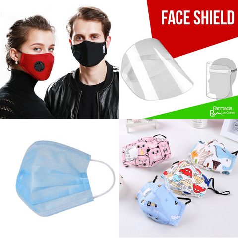 MASCARILLAS / N95 / FACE SHIELD