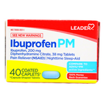 IBUPROFEN PM - 40 COATED CABLETS (200 mg)