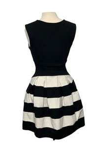 Black/White Eva Franco- Anthropologie N/S Structured Strato Dress, 6