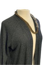 Load image into Gallery viewer, Charcoal Halston- NWT L/S Long Cardigan Sweater, M