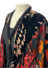 Load image into Gallery viewer, Black Floret- Anthropologie Kimono Blouse Top, OS