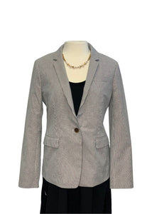 Blue Stripe J Crew Striped Blazer, 12
