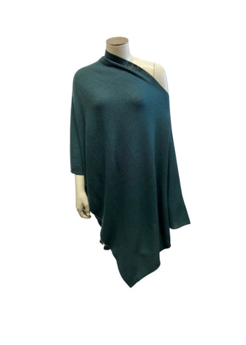 Green Eileen Fisher Poncho NWT, OS