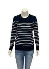 Load image into Gallery viewer, Navy Banana Republic L/S Striped Sweater, S