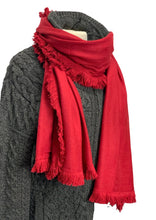 Load image into Gallery viewer, Red La Fiorentina Scarf, OS