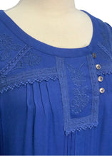 Load image into Gallery viewer, Blue Leifsdottir by Anthropologie L/S Embroidery Detail Dress, 4