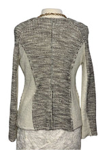 Load image into Gallery viewer, Cream and Grey Anthropologie Cartonnier Longsleeve Sweater, M