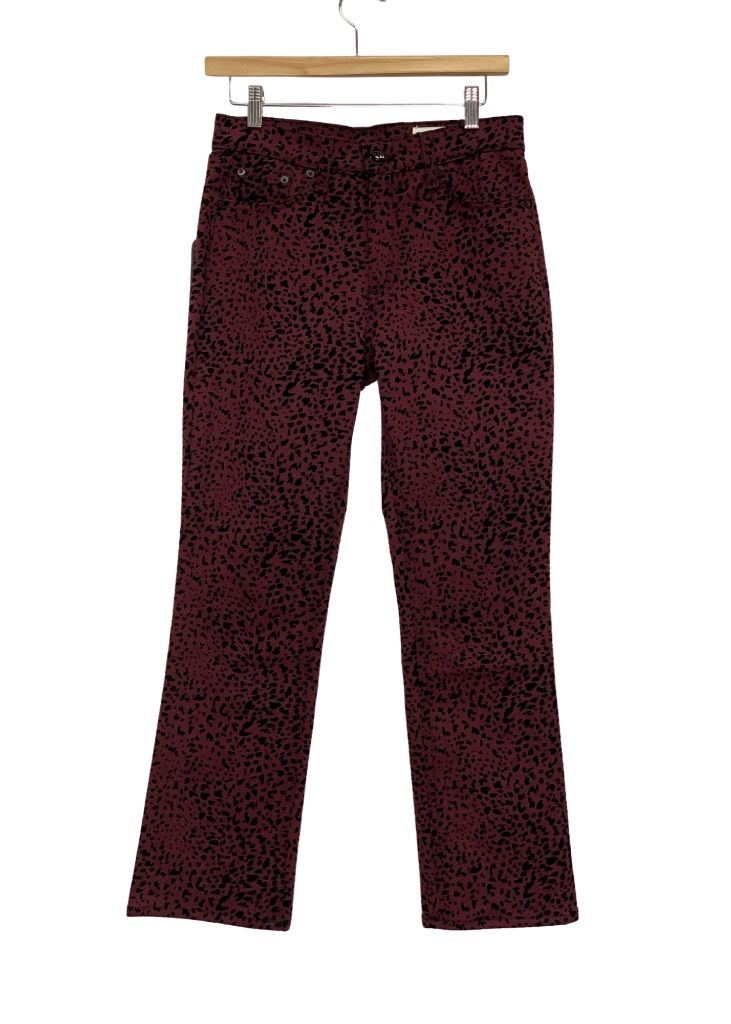 Burgundy Rag & Bone Cheetah printed Jeans- NWT, 26