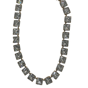 Clear J Crew Rhinestone Necklace, OS