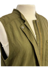 Load image into Gallery viewer, Army Green Hinge Sleeveless Long Vest, M