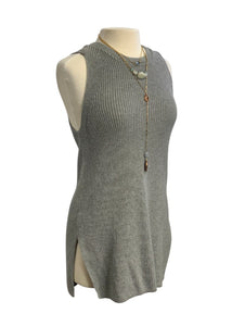 Grey Ann Taylor Loft N/S Tunic Sweater, M