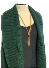 Load image into Gallery viewer, Green The Cue Cher Q- Anthropologie Cocoon Shrug Sweater, S