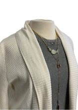 Load image into Gallery viewer, White Ann Taylor Loft L/S Cardigan Sweater, M