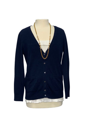 Navy Banana Republic L/S Button Up Sweater, M
