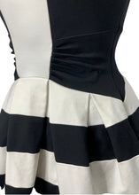 Load image into Gallery viewer, Black/White Eva Franco- Anthropologie N/S Structured Strato Dress, 6