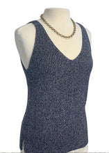 Load image into Gallery viewer, Navy Ann Taylor Loft N/S Sweater Tank, M