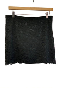 Black Diane von Furstenberg Short Lace Skirt, 4