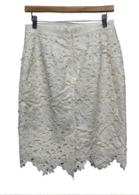 Load image into Gallery viewer, Ivory Ann Taylor Loft Lace Embrodery Skirt, 4