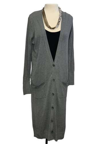 Grey Halogen L/S Long Cardigan, M