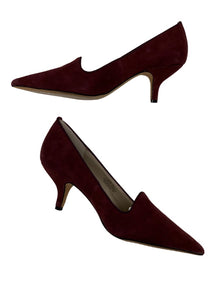 Burgundy Steven by Steve Madden Short Suede Pumps NWOT, 9