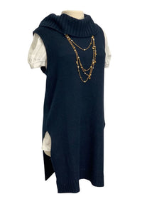 Navy Halogen N/S Sweater Tunic, M