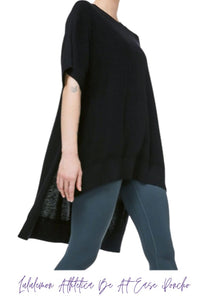 Black Lululemon S/S Pancho- Be At Ease, OS