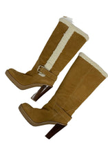 Load image into Gallery viewer, Camel Michael Kors Suede Derby Boots, 8 1/2