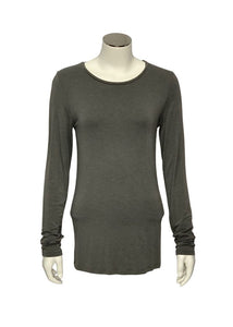 Grey Majestic Filatures L/S Tee, 2/S
