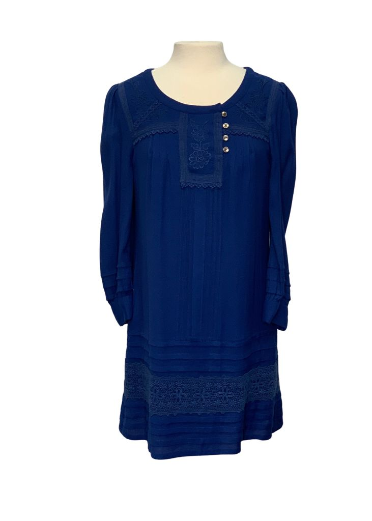 Blue Leifsdottir by Anthropologie L/S Embroidery Detail Dress, 4