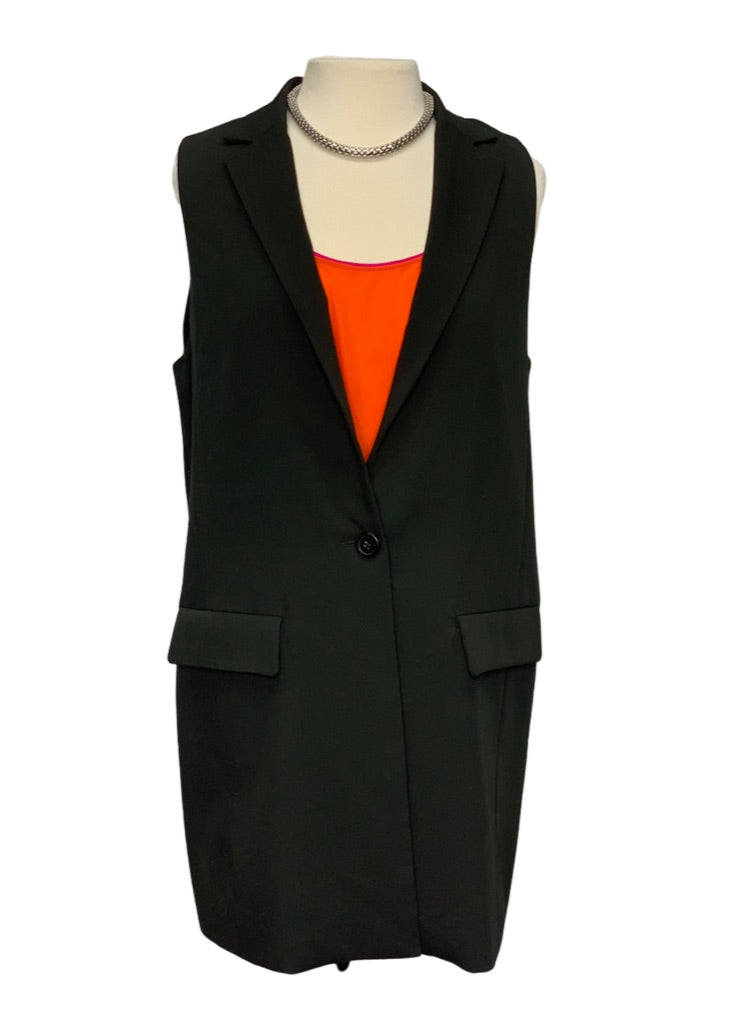 Black Cupcakes and Cashmere- Anthropologie Sleeveless Long Blazer, 10