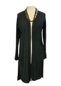 Charcoal Halston- NWT L/S Long Cardigan Sweater, M