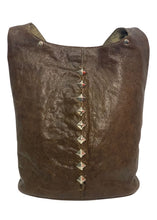 Load image into Gallery viewer, Brown Calleen Cordero Leather Studded Tote