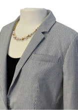 Load image into Gallery viewer, Blue Stripe J Crew Striped Blazer, 12