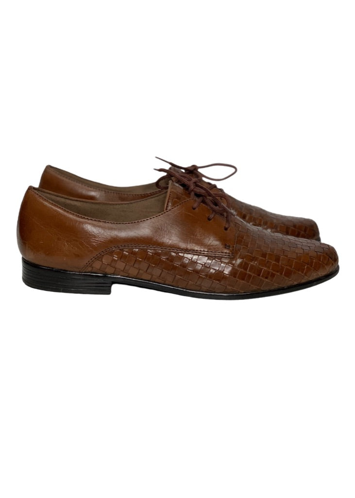 Brown Trotters Weaved Oxford, 10