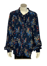 Load image into Gallery viewer, Navy Banana Republic Longsleeve Blouse, M
