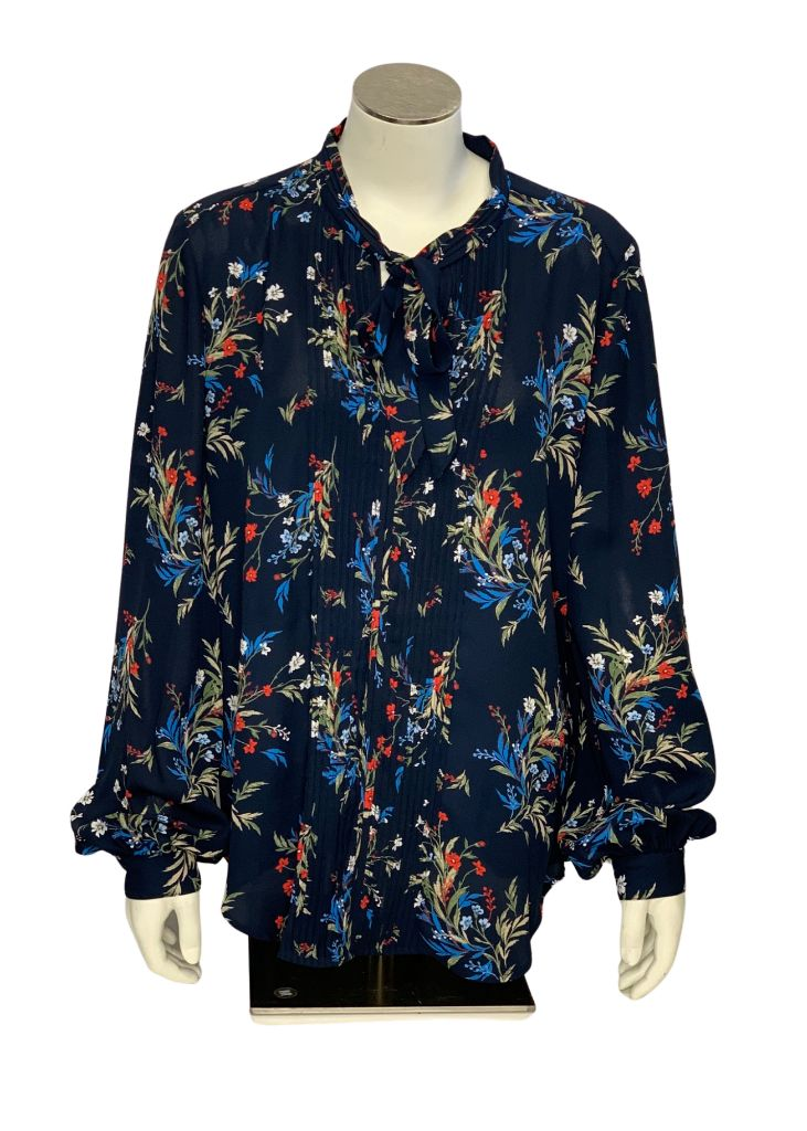 Navy Banana Republic Longsleeve Blouse, M