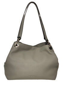 Grey Michael Kors Pebble Leather Handbag, N/S