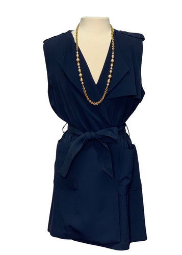 Navy Banana Republic Sleeveless Dress, M