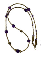 Load image into Gallery viewer, Purple Maker Unknown Purple Bronze Necklace, One Size