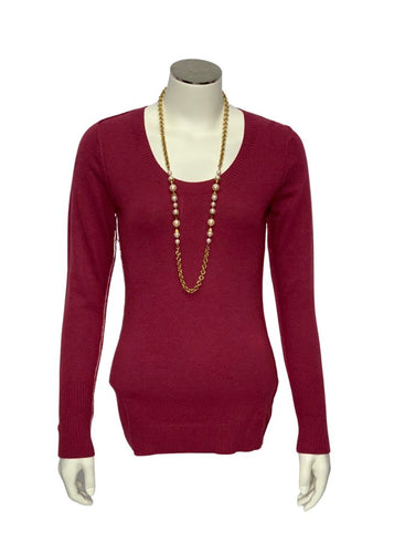 Red/ Pink Banana Republic L/S Sweater, XS
