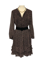 Load image into Gallery viewer, Black Ann Taylor Loft L/S Dress, L