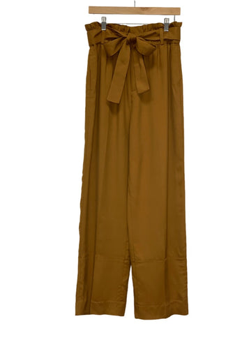 Brown J Crew Wide-leg Belted Pants, 10 Tall
