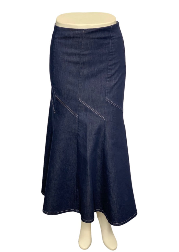 Denim Cest Chic Long Skirt, T38- S- 26