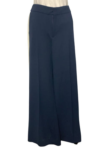 Navy Banana Republic-NWT High-rise Wide-leg Pants, 8