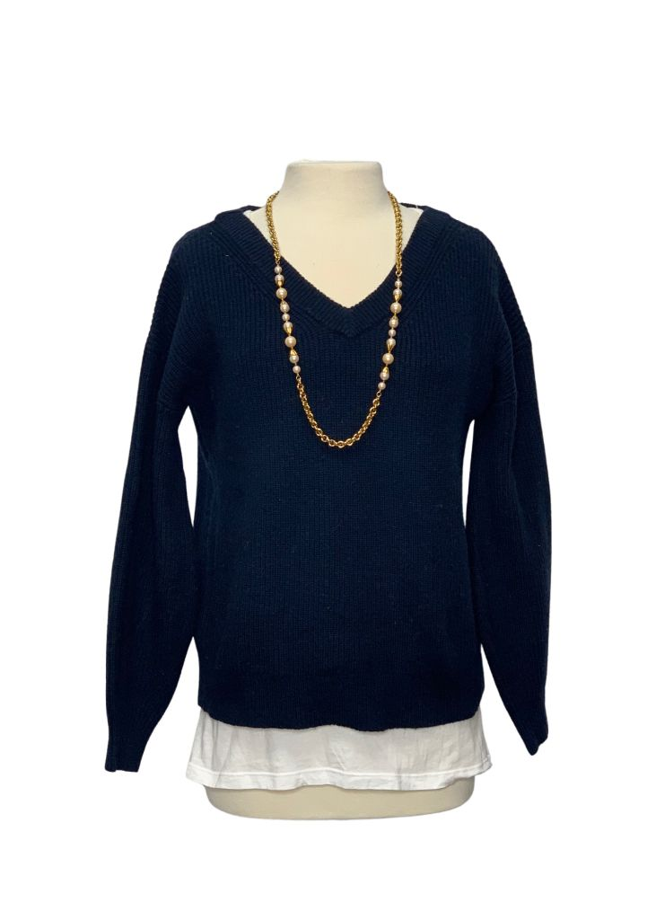 Navy Banana Republic L/S Sweater, S
