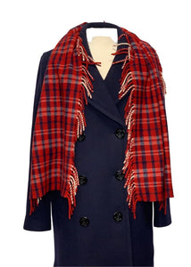 Red Multi No Brand Scarf, OS